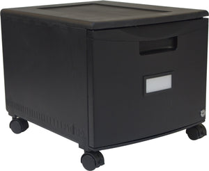 "18"" Filing Drawers, Black - Storex"