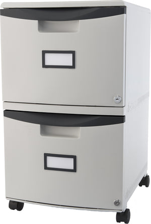 Two Drawer Mobile File Cabinet with Lock