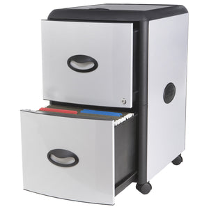 Deluxe File Cabinet with Lock, Metal Accent Panels, with Extra Storage