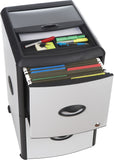 Deluxe File Cabinet with Lock, Metal Accent Panels, with Extra Storage - Storex
