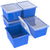 4 Gallon/15 L Classroom Storage Bin with Lid ,Blue (6 units/pack)