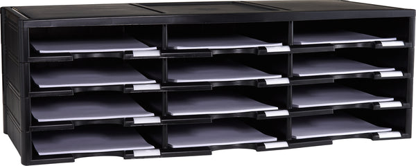 12 Compartment Literature Sorter - Storex