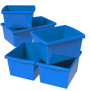 4 Gallon Storage Bin, Blue (6 units/pack)