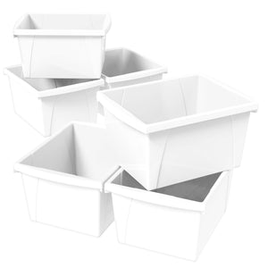 4 Gallon Storage Bin, White (6 units/pack)