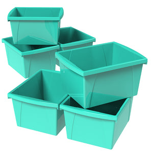 4 Gallon Storage Bin, Teal (6 units/pack)