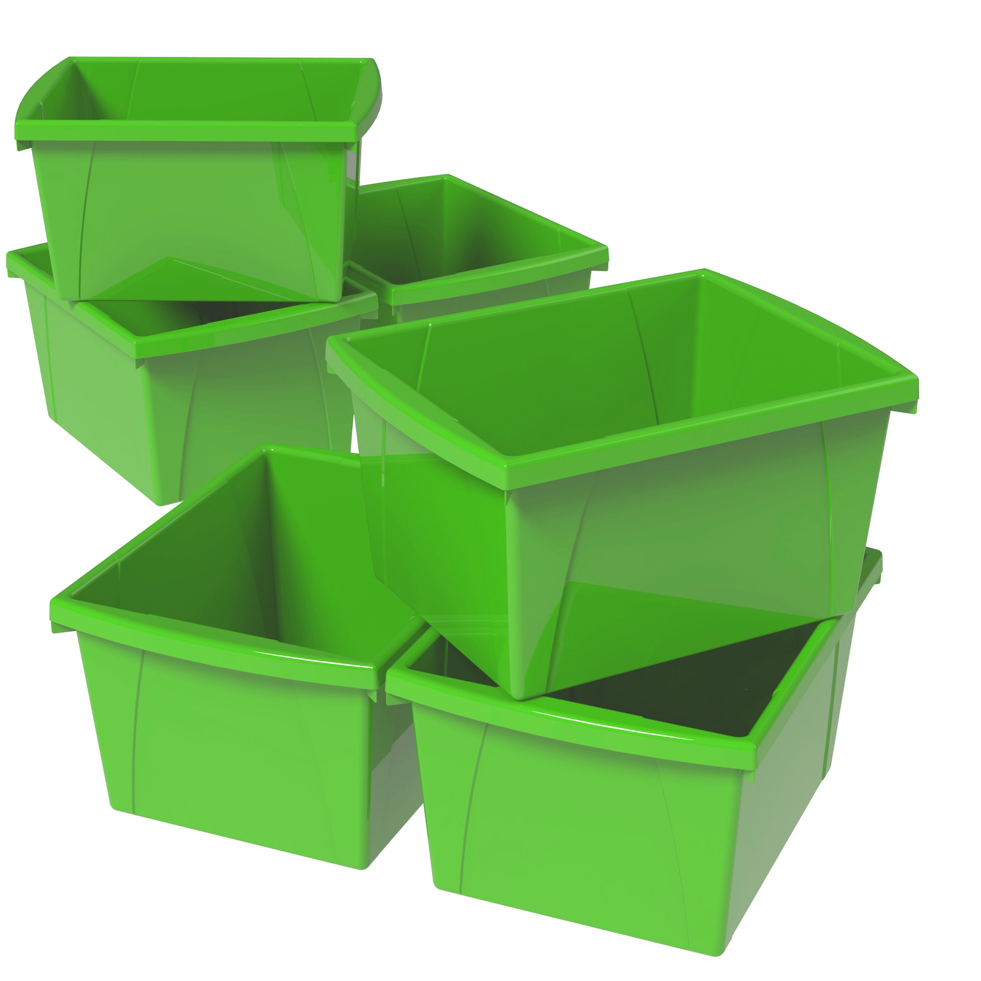 4 Gallon Storage Bin, Green (6 units/pack )