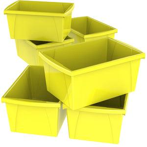 5.5 Gallon Storage Bins, Yellow (6 units/pack)