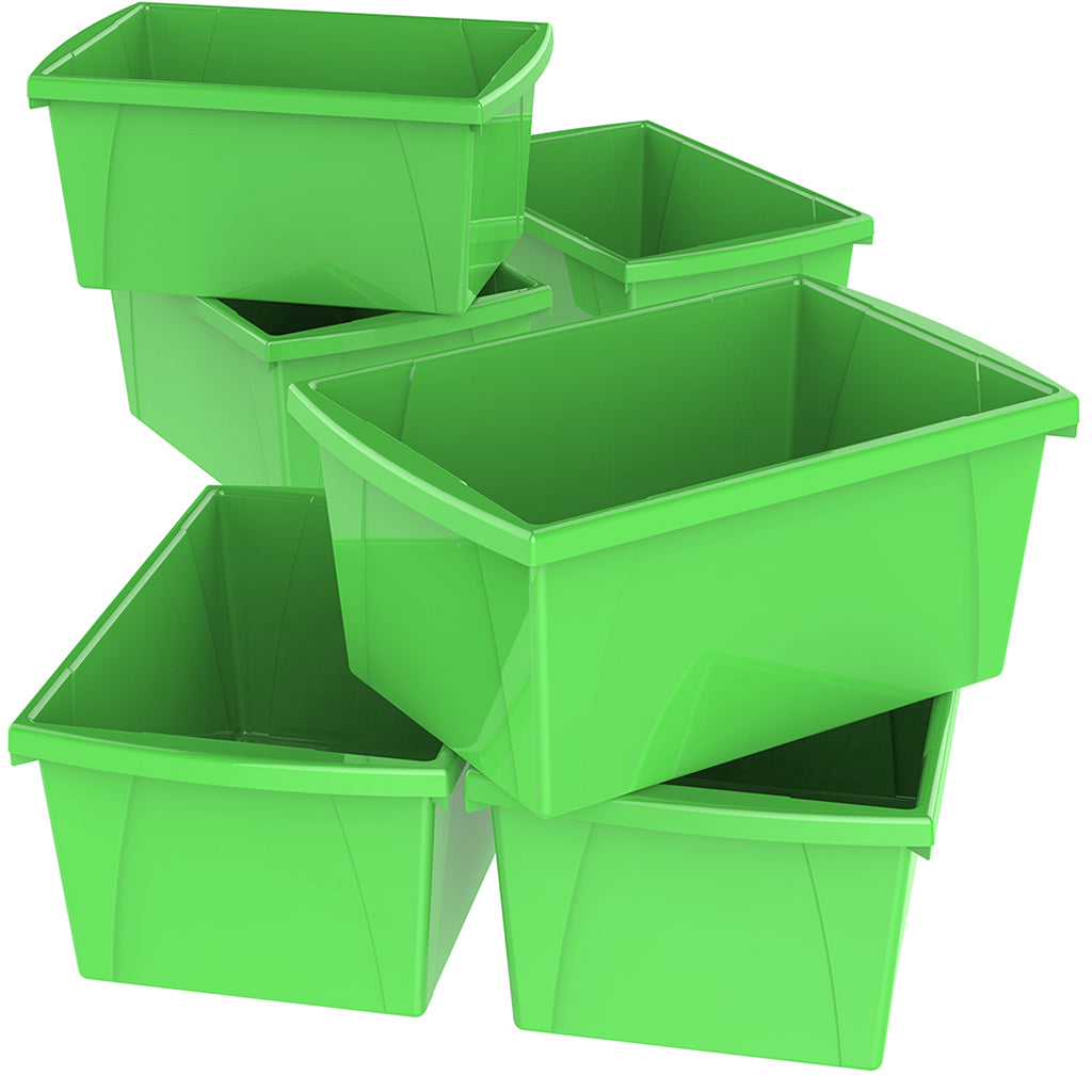 5.5 Gallon Storage Bins, Green (6 units/pack)