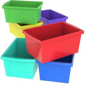 5.5 Gallon Storage Bins, Assorted Colors .