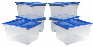 File Tote with Easy Access Lid - Storex