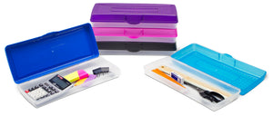 Stretch Pencil Box,  Assorted Colors (12 units/pack)