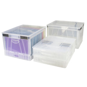 Folding Storage Cube, Clear (4 units/pack) - Storex