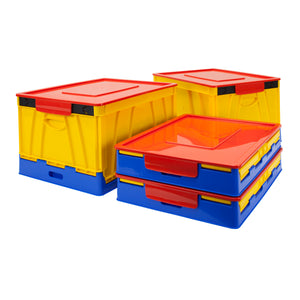 Folding Storage Cube, Multicolor (4 units/pack)