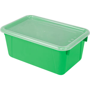 Small Cubby Bin with lid, Green (5 units/pack) - Storex