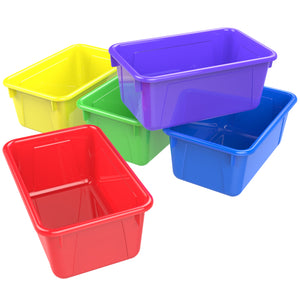 Small Cubby Bin, Assorted Colors (5 units/pack)