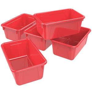 Small Cubby Bin, Red (5 units/pack)