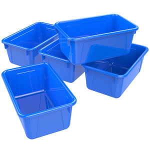 Small Cubby Bin ,Blue (5 units/pack)