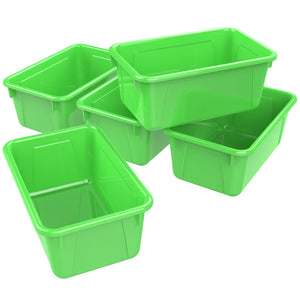 Small Cubby Bin, Green (5 units/pack)