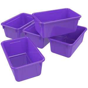 Small Cubby Bin, Purple (5 units/pack)