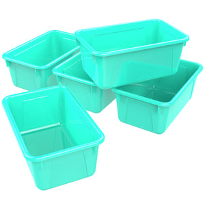Small Cubby Bin, Teal (5 units/pack)