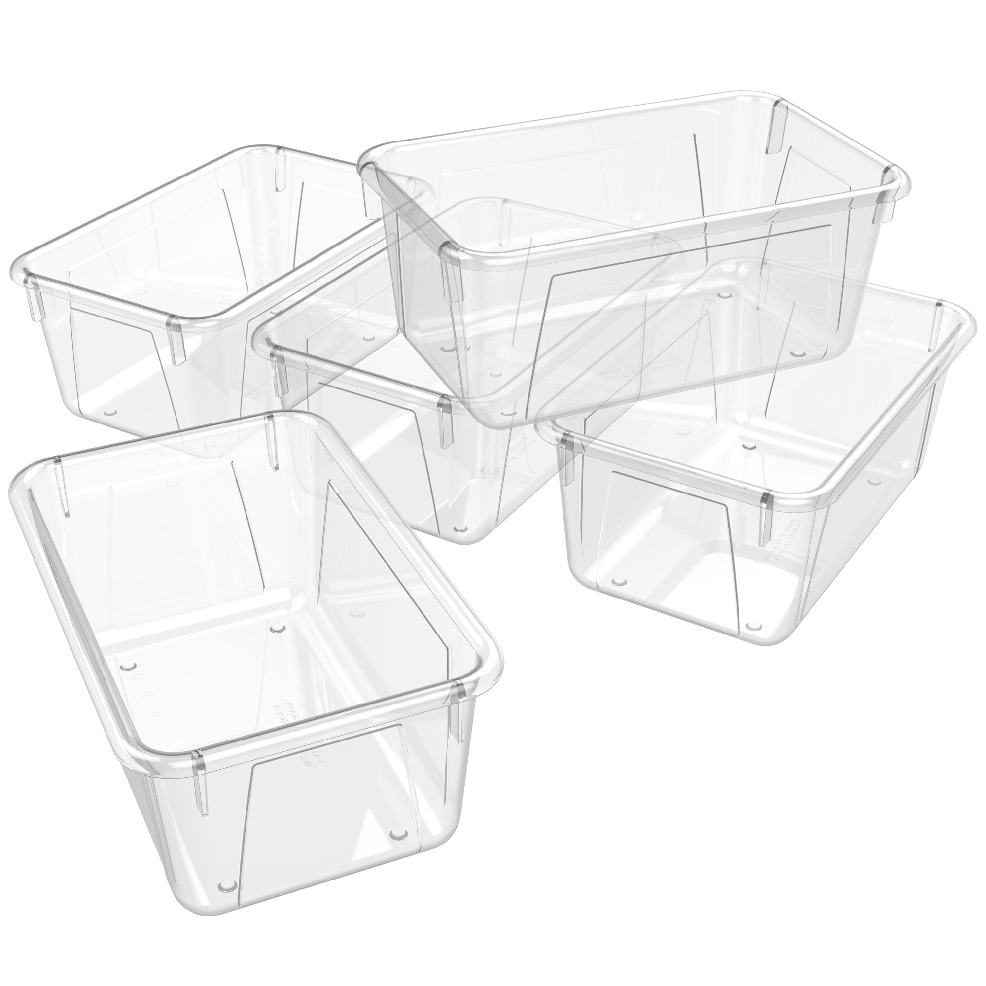 Small Cubby Bin ,Clear (5 units/pack)