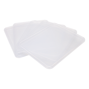 Storex Lid for Storage Tray, Letter Size, 10 x 13 Inches, Translucent, 5-Pack