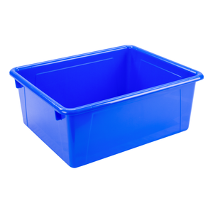 Storex Storage Tray, Letter Size, 10 x 13 x 5 Inches, Blue, 5-Pack