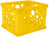 Storex Micro Crate, Yellow, 18-Pack