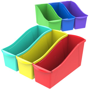Large Book Bin, Assorted Colors (6 units/Pack) - Storex
