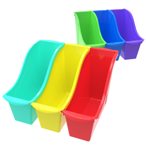Small Book Bin, 6 pack - Storex