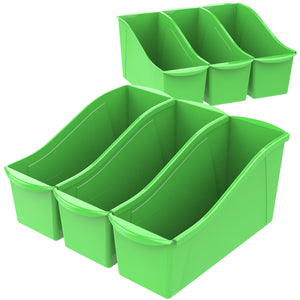 Large Book Bin, Green (6 units/pack) - Storex