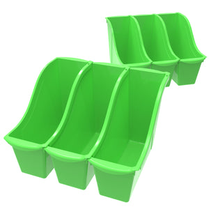 Small Book Bin, Green (6 units/pack) - Storex