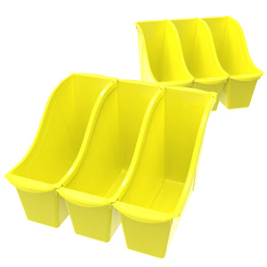 Small Book Bin, Yellow (6 units/pack) - Storex