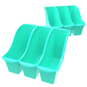 Small Book Bin, Teal (6 units/ pack) - Storex