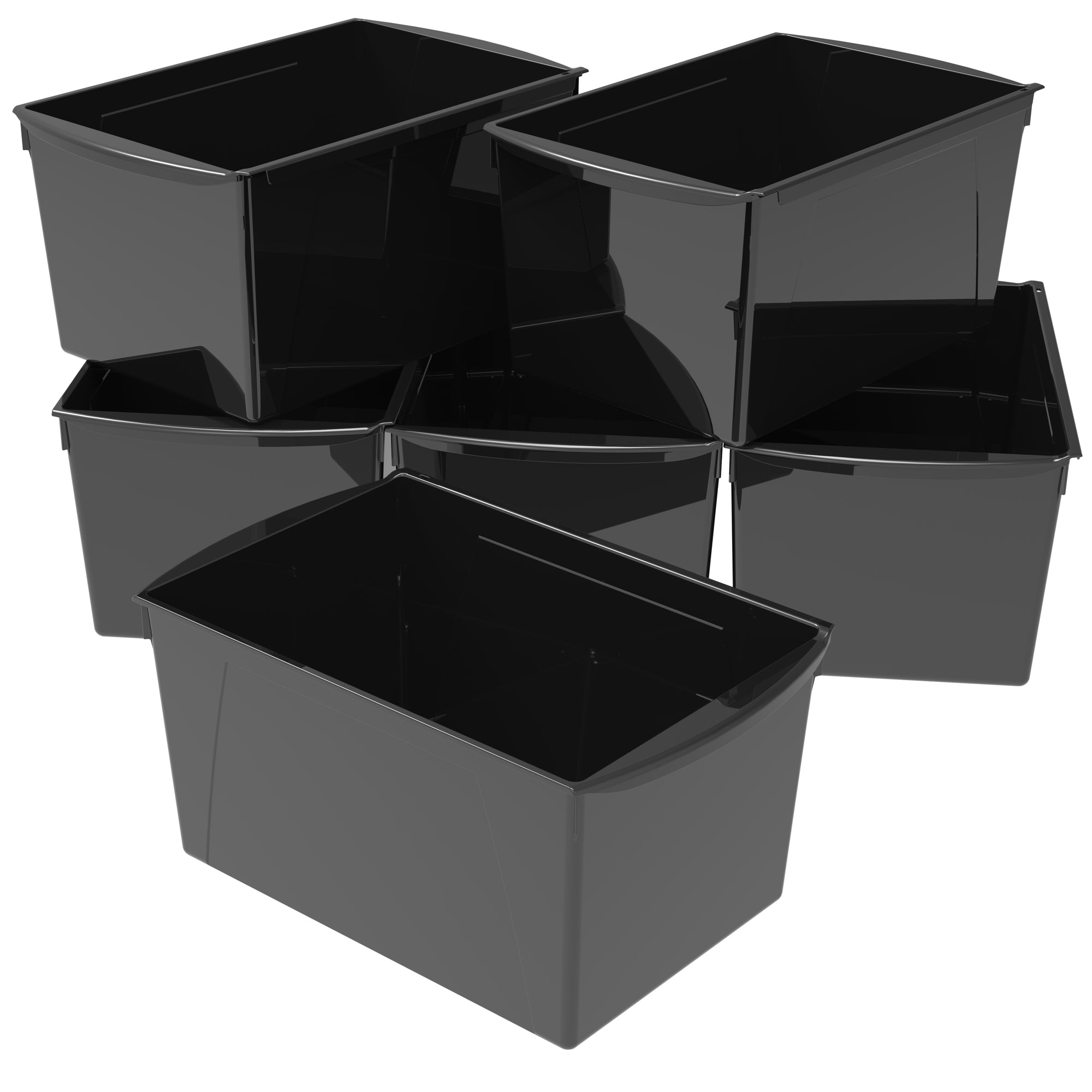 Double XL Wide Book Bin ,Black (6 units/ packs)