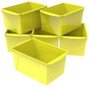 Double XL Wide Book Bin ,Yellow (6 units/pack)