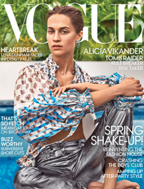 Vogue March 2018 | Alicia Vikander | Ben-Amun | LIFE OF THE PARTY | Costume Jewelry | Crystal | Pearl | Shop Jewelry