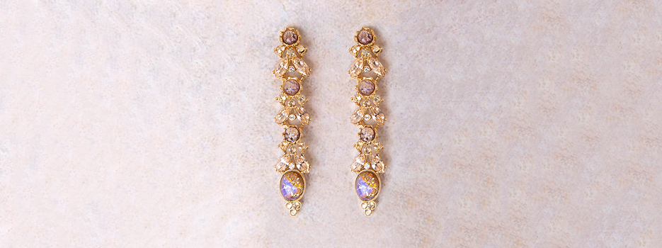 The Boheme Collection |  Ben-Amun | Costume Jewelry | Fall Jewelry | Crystal Drop Earrings | Multicolor Earrings