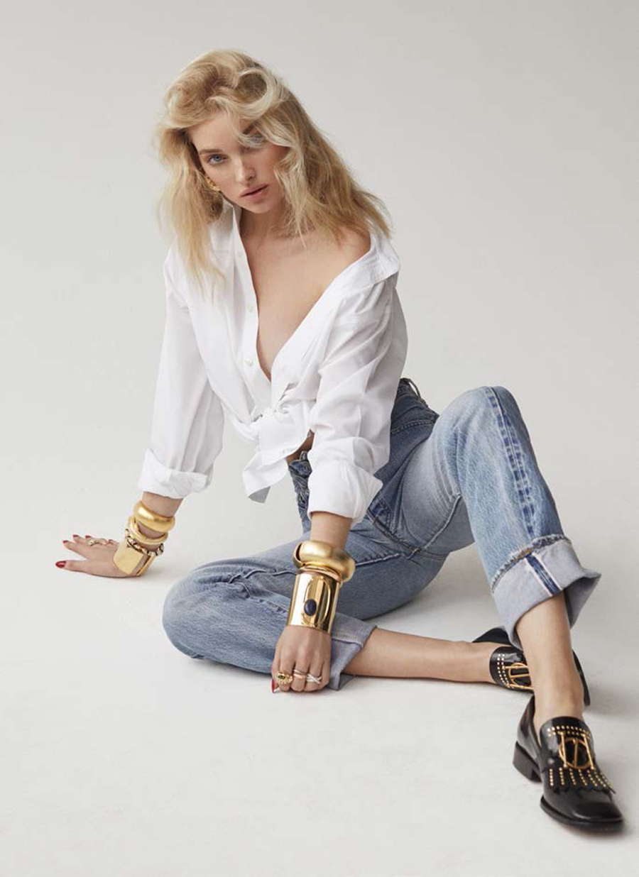 Issue Magazine July 2018 | Elsa Hosk | Sculptural Cuff | Ben-Amun