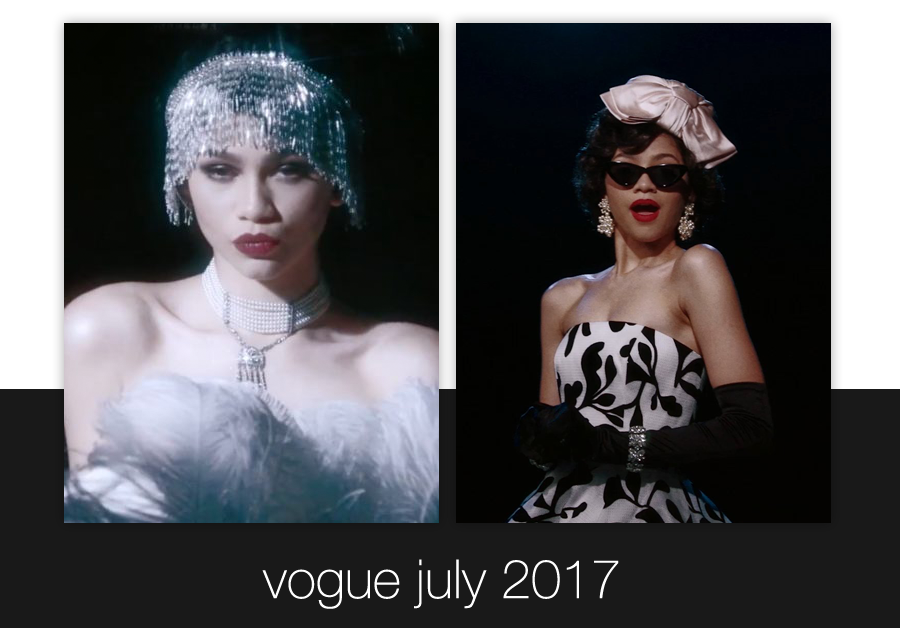 Zendaya | Vogue July 2017 | Ben-Amun | Zendaya Does 100 Years of Beauty Vogue | Zendaya Does Fashion and Beauty Through the Decades Vogue
