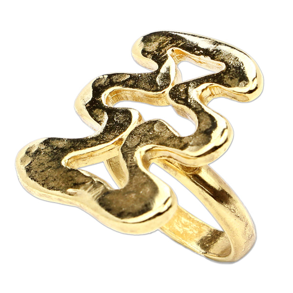 Sculptural Garden Wave Ring - Ben-Amun