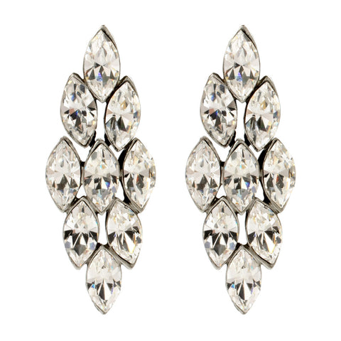 Marquise Crystal Clip Earrings - Ben-Amun
