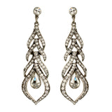 Crystal Geometric Chandelier Post Earrings - Ben-Amun