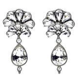 Crystal Fan Drop Post Earrings - Ben-Amun
