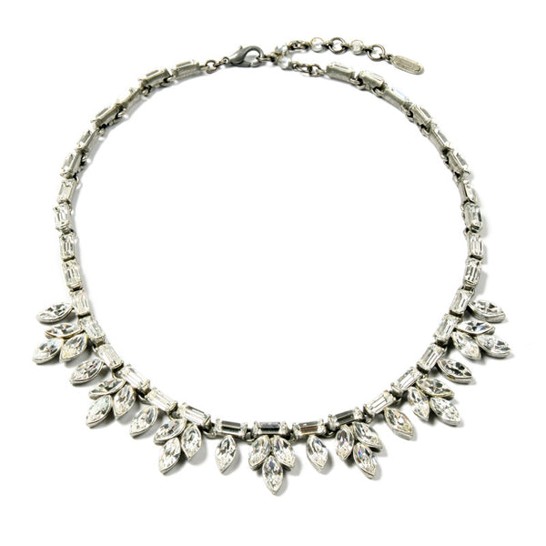 Petite Crystal Baguette Necklace