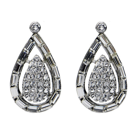 Crystal Oval Cut Post Earrings - Ben-Amun