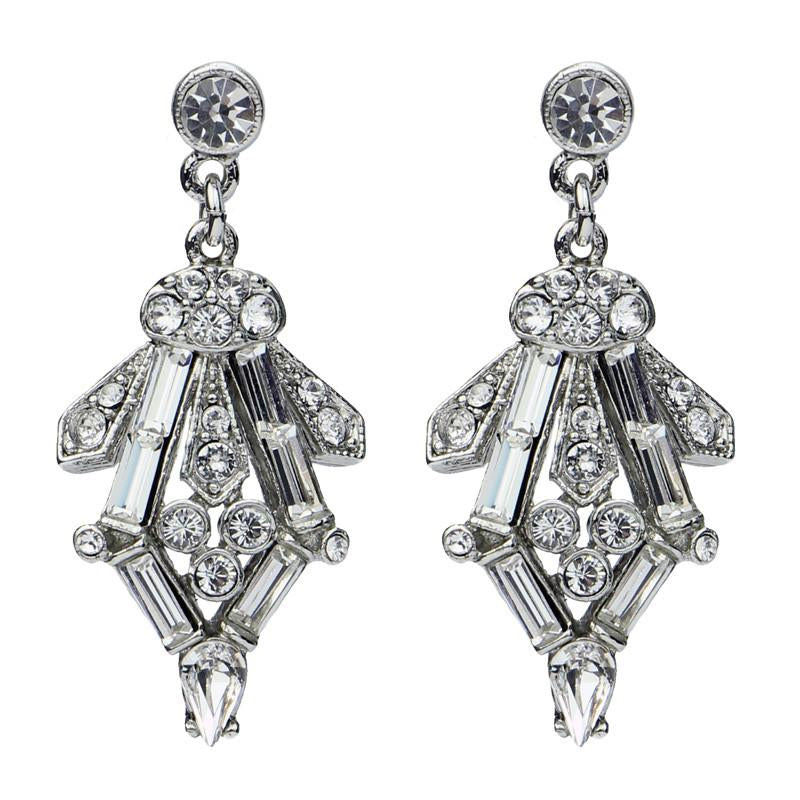 Crystal Baguette Post Earrings - Ben-Amun