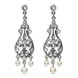 Imperial Crystal Pearl Post Drop Earrings - Ben-Amun