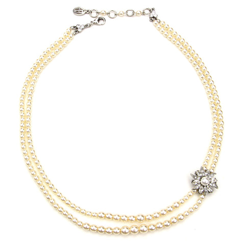 Crystal Daisy Necklace - Ben-Amun