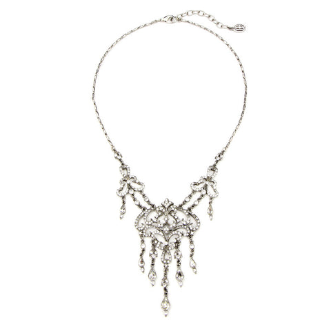 Deco Chandelier Crystal Drop Pendant Necklace - Ben-Amun
